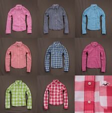 Hollister Womens Button Down Plaid Shirt Top Long Sleeve by Abercrombie NWT!