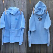 Embroidered Personalised Baby Bath Robe Dressing Gown, Boy or Girl Gift Shark!!