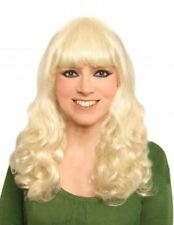 CURLY LONG BLONDE WIG PERFECT HALLOWEEN FANCY DRESS ACCESSORY