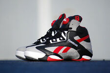 "Mens Reebok Pump Shaq Attaq ""Brick City"" Sneakers New, Gray Red M40173 $160"