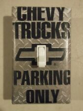 Chevy Trucks Parking Only Light Switch Plate Cover Choose Size Cover - Cars