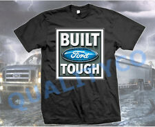 Licensed Ford Built Tough Logo Black T Shirt Mustang Shelby F 150 Truck Tee