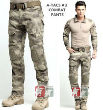 A-TACS AU Crye style Gen3 G3 Combat PANTS Military Tactical BDU Uniform w/ PadsA