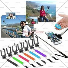 Handheld Bluetooth Remote Selfie Stick Extendable Monopod For iPhone Samsung LG