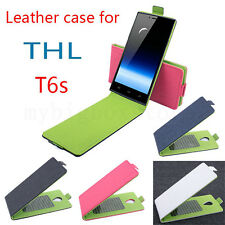High Quality 4 Colors Protective PU Leather Flip Case for THL T6S Smartphone