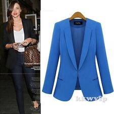 New Winter Fall Women Casual Cardigan Coat Jacket Peplum Brazer Suits Black Blue