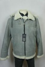 Men 100% Shearling Leather Sheepskin Aviator Bomber Flight B3 Jacket Coat S-6XL