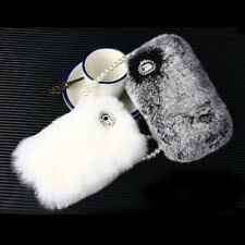 Handmade Rabbit Fur Hair Warm Plush Case Cover for iPhone 5 4S iPhone 6 / Plus 6