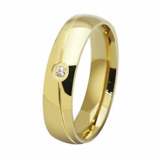 6MM Stainless Steel Ring Gold Jewelry Band SZ 5-13 Wedding Cocktail Party