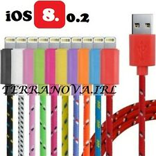 Braided iPhone 5 5s USB Cable Data Sync Lightning Charger 1m 3ft iPhone IOS 8.0