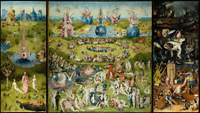 """The Garden Of Earthly Delights HIERONYMUS BOSCH Fabric poster 43"""" x 24"""" Decor 02"""