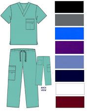 Medical Nursing Men Women Unisex Scrub Set Top Pants Hospital Clinic Uniform NWT