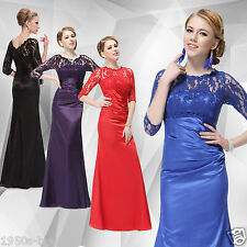 Elegant Lace Womens Long  Evening Party Formal Gown Bridesmaid Dress NO 28