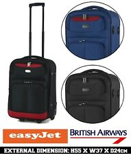 55 & 50cm Ryanair Easyjet Cabin Approved Hand Luggage Trolley Cases Suitcase