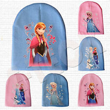 New Winter Cartoon Frozen Hat Beanies Anna Elsa Princess Cap for Girl Baby Kids