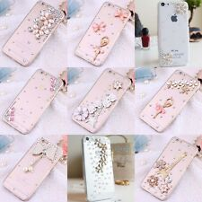 3D bling gem diamond luxury crystal cover case for Samsung and apple