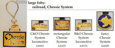 Chessie System Railroad fobs, various designs & keychain options