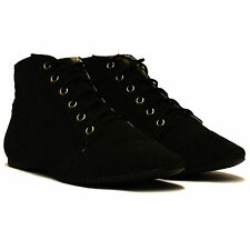 Ladies Womens Low Flat Heel Faux Suede Pixie Booties Ankle Boho Boots Shoes Size