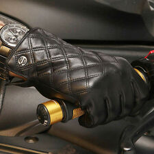 Mens Genuine Nappa Leather Touch Screen Function Warm Lined Gloves On Sale #013