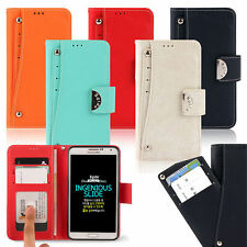 Egide Double Pocket Wallet Case for Samsung Galaxy Note Edge N915 Note4 N910