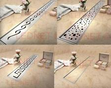 Stainless Steel SHOWER WETROOM DRAIN Drainage 60-100cm complete NORDIC Tec EU