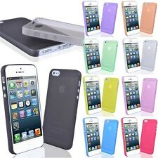 Thin Transparent Clear Frosted Soft Plastic Case cover Skin for iPhone 5 5S