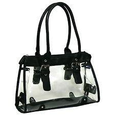 Women See Through Clear Transparent Purse Jelly Beach Handbag Tote Satchel