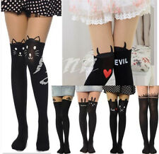 Sexy Design Cartoon Print Tattoo Socks Sheer Pantyhose Stockings Tights