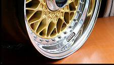BBS Wheel Sticker Decal Kit 2 SIZES RS SR RG LM CH 15 16 17 18 19 20 Center Cap