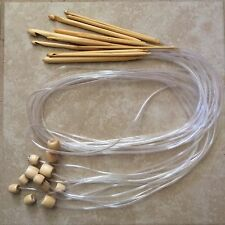 "Bamboo Flexible 46"" Afghan Tunisian Crochet Hooks - Choose Hook Size - US Seller"