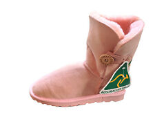 Australian Made Genuine Sheepskin Lady's One Button UGG Boots Pink Colour