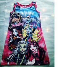 New Girls Monster High Sleeveless Nightwear Kids Nightdress Sleepwear Size6-16Y