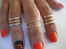 14K & 10K. SOLID GOLD OVER THE KNUCKLE BAND OR THUMB RING HAND MADE IN U.S.