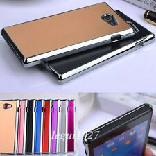 For Sony Xperia M2 S50h/Dual D2302 Luxury Chromed Metal Brushed Back Cover Case