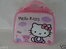 HELLO KITTY LUNCH BAG BOX PINK BNWT SOFT SIDES HANDLE SCHOOL GIRLS