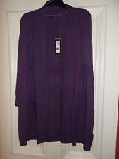M&S CASHMERE LONGLINE BLUEBERRY CARDIGAN BNWT  SIZE 18 & 20 RRP £129 'NEW IN'
