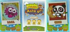 TOPPS MOSHI MONSTERS MASH UP RAINBOW FOIL SERIES 1 CARDS PICK THE ONES YOU NEED