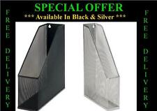 Black Silver Metal Wire Mesh Magazine File Document Letter Organizer Home Office