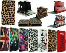 NEW FLOWER UNION JACK LEATHER FLIP WALLET POUCH CASE FOR VARIOUS PHONE MODELS