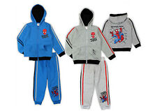 New official SPIDERMAN boys tracksuits trousers and hooded jacket set 4-9 years