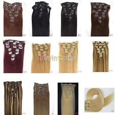 """15""""18""""20""""22""""7PCS Clip In Really Human Hair Extensions 70g Lots of Colors"""