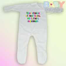 Your Choice of Words - Personalised Embroidered Romper / Babygrow - Baby Gift