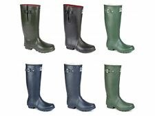 Woodland Mens Womens Ladies Neoprene Wide Calf Buckle Wellies Wellington Boots