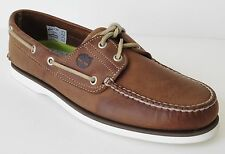 Timberland Mens Style 71510 Classic 2  Eye Classic Boat Shoes Brown Tan Camel