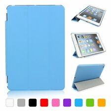 Slim Magnetic Leather Smart Cover For iPad Air 2 with Hard Back Case Sleep/Wake