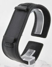 Leather cuff-style wrist watch band, with black or brown options