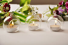 1/5/10/20 10CM Glass Hanging ball tealight candle holder Centrepiece wedding