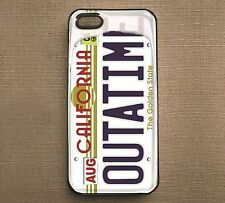Back to the Future OUTATIME Plate Print case Hard & Rubber iPhone4/4s/5/5s/6/6P