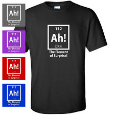 AH THE ELEMENT OF SURPRISE FUNNY SCIENCE PI MENS T-SHIRT