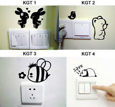 1 PCS Black Switch Sticker Various Cartoon Images Bedroom Parlor Wall Sticker